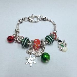 Christmas themed charm bracelet